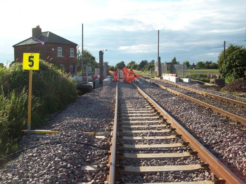 Track alignment being re-set by 1st for Rail.