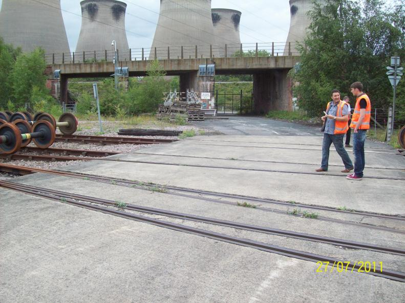 Access at DB Schenkers Yard at Ferrybridge Power Station