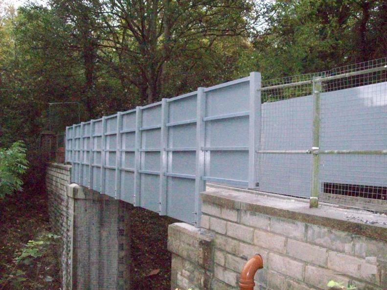 View on the completed bridge GRP parapets.