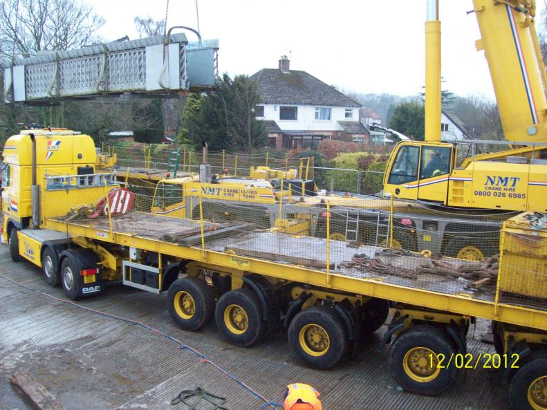 Existing Bridge being loaded away
