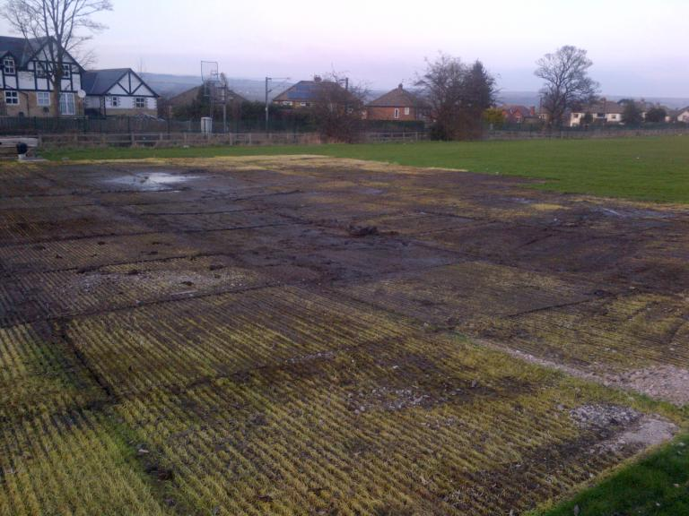 Track panels removed from site compound area