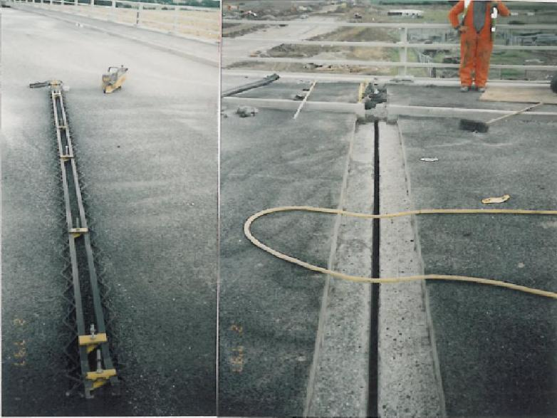 Bridge Expansion Joints being installed.