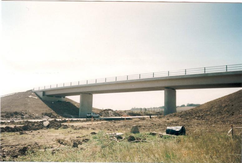 Completed Bridge - concrete finishing completed.