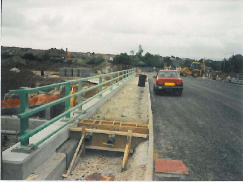 Formwork for expanasion Joint set up in the footpaths.